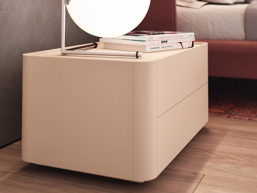 Lacquered bedside table DOLLY | Bedside table by ESTEL GROUP