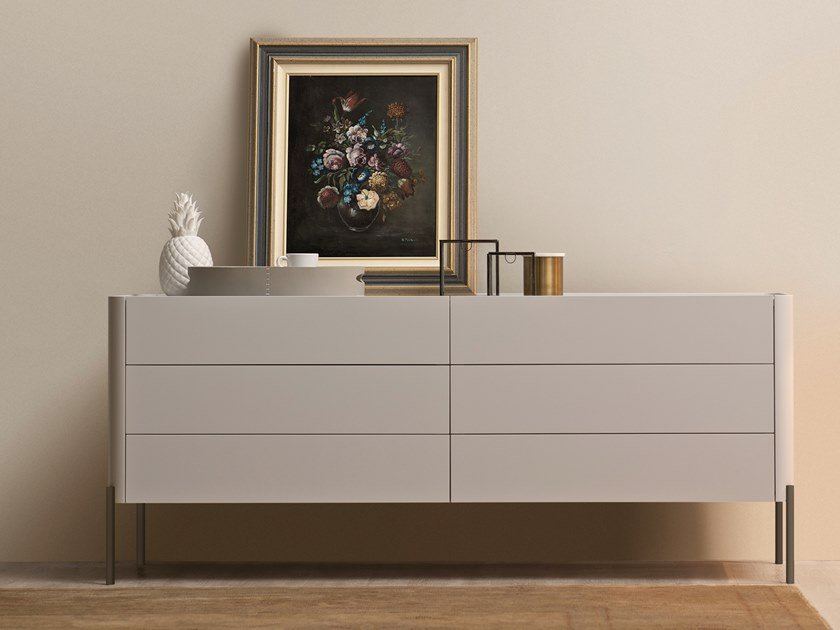 Lacquered chest of drawers DOLLY   Chest of drawers by ESTEL GROUP