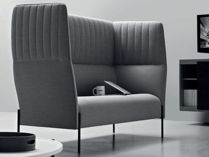 2 seater high-back fabric sofa DOLLY | High-back sofa by ESTEL GROUP