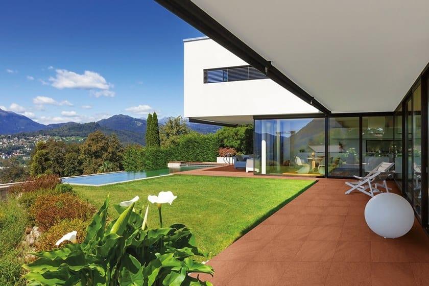 Vehicular outdoor floor tiles with terracotta effect DOLOMITI | Outdoor floor tiles with terracotta effect by GRANULATI ZANDOBBIO