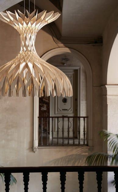 Bover Lampada Sospensione Dome In 180 Legno A JulK13TFc