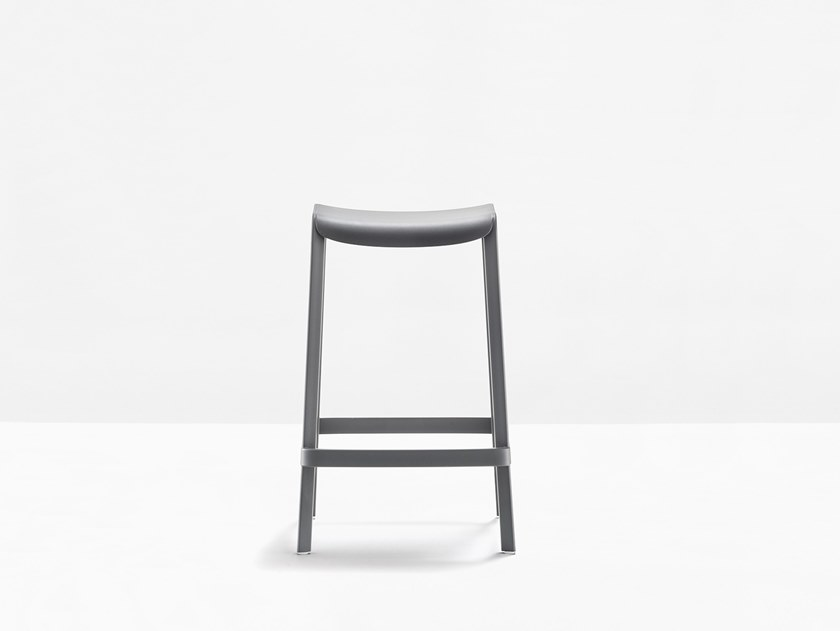Stackable polypropylene stool DOME 267 by PEDRALI