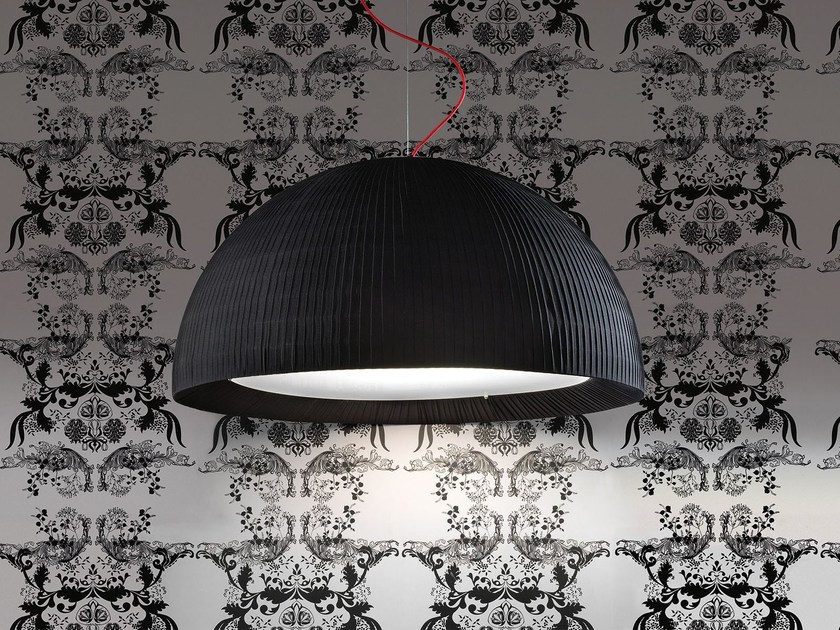 Contemporary style direct light fabric pendant lamp DOME | Pendant lamp by Masiero