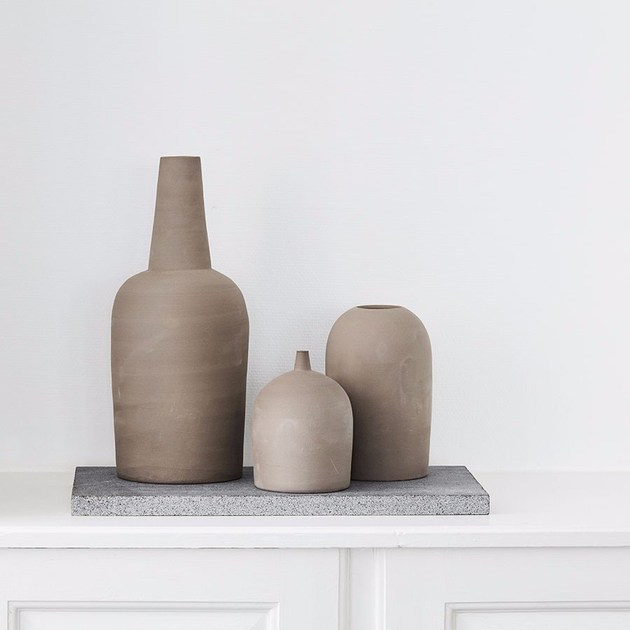 Contemporary Style Stone Vase Dome Vase Small Vase By Kristina Dam