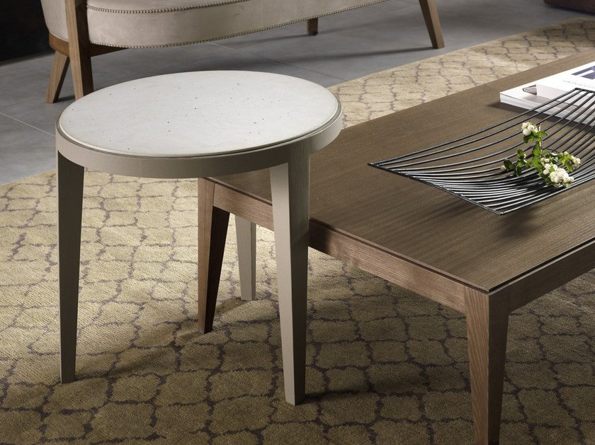 Low round coffee table DOMINIQUE | Cimento® coffee table by Pacini & Cappellini