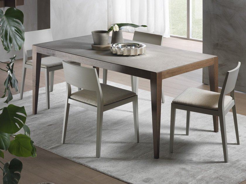 Extending rectangular table DOMINIQUE | Cimento® table by Pacini & Cappellini