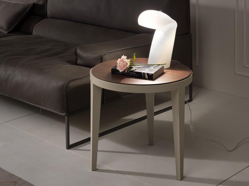 Tavolino basso rotondo DOMINIQUE | Tavolino laccato by Pacini & Cappellini