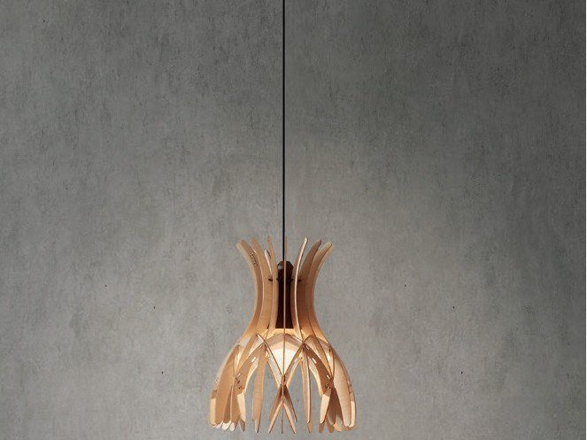 LED wooden pendant lamp DOMITA S/20 by BOVER