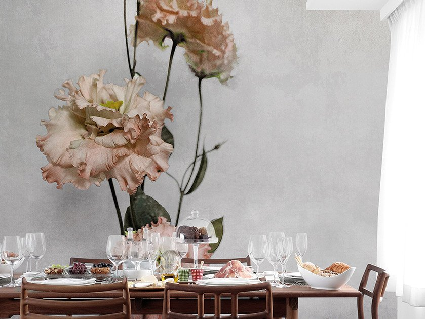 Panoramic wallpaper with floral pattern DOMUS II by Inkiostro Bianco