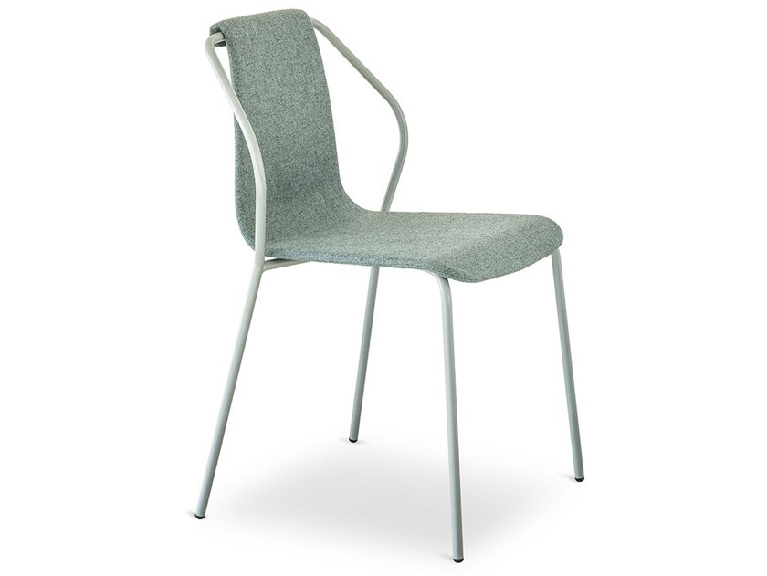 Fabric chair with armrests DONNA | Chair by BALERI ITALIA