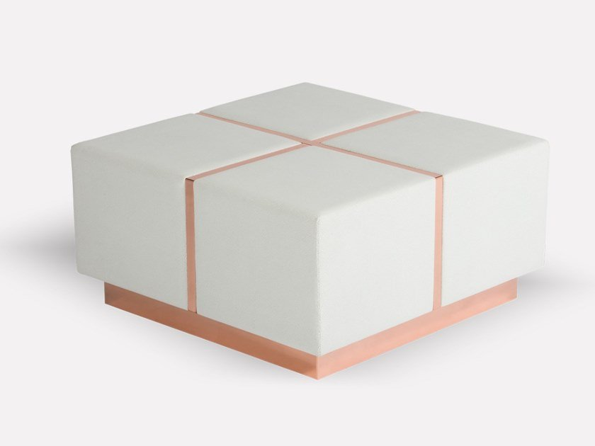 Square leather coffee table DONO by MORADA
