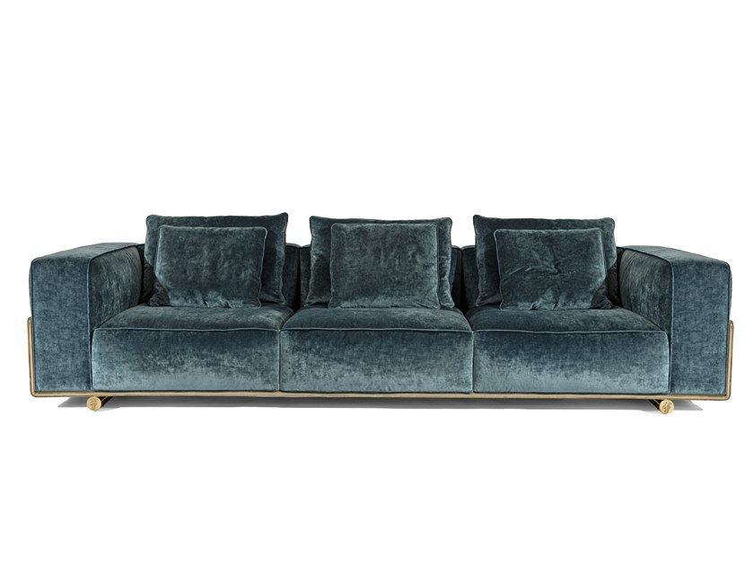 Sectional 4 seater fabric sofa DONOVAN SQUARE | Sectional sofa by Visionnaire