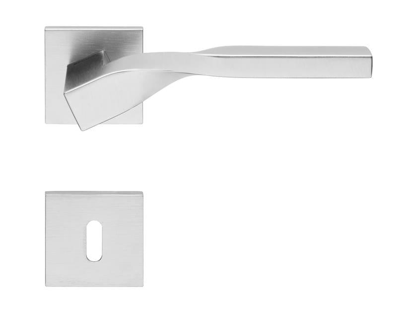 Zamak door handle with lock TWIST ZINCRAL | Door handle by LINEA CALI'