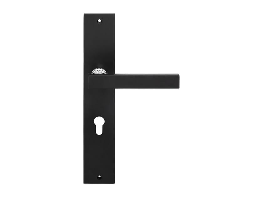 Brass door handle on back plate ERA | Door handle on back plate by LINEA CALI'