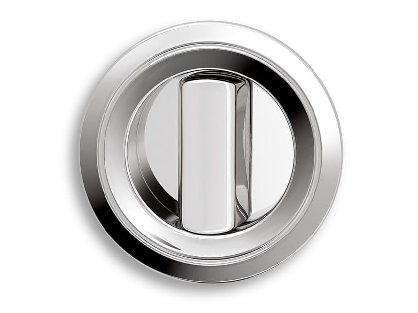 Brass keyhole escutcheon TWIN | Round keyhole escutcheon by Ento