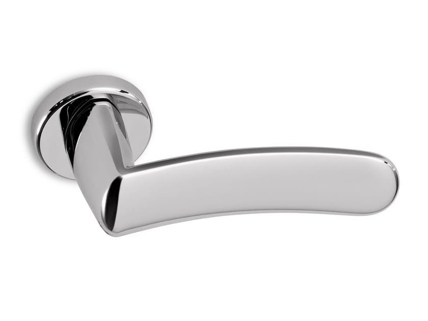 Brass door handle WAVE   Door handle by Ento
