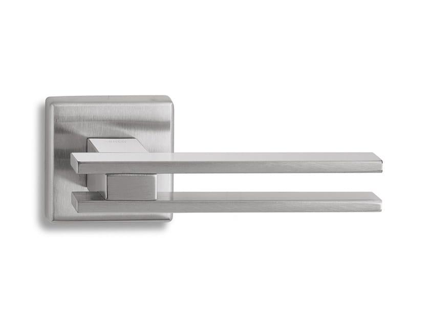 Brass door handle ZEN SQ   Door handle by Ento