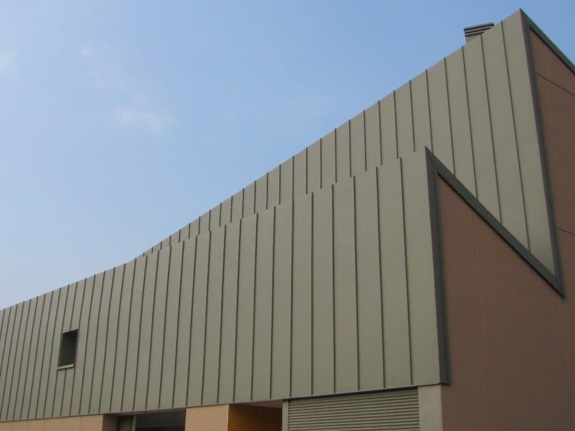 Elementi per facciate e coperture Doppia Aggraffatura in alluminio by IOROI