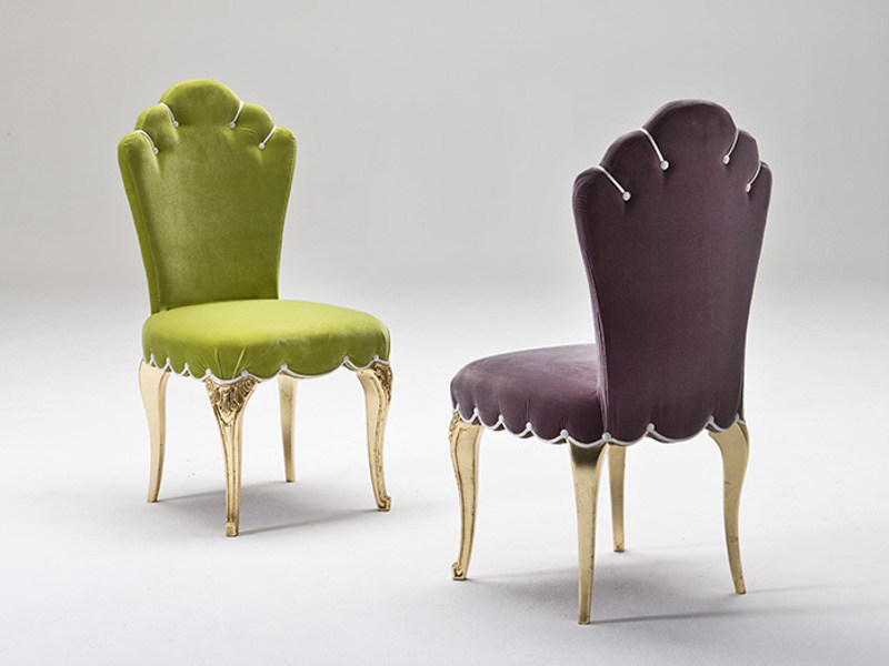 Upholstered fabric chair DORIA by Rozzoni