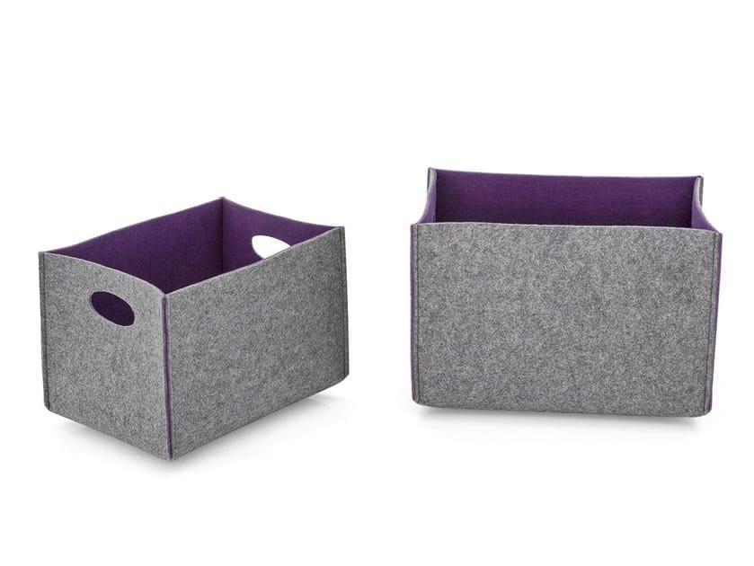 Felt storage box DORIAN by Calligaris