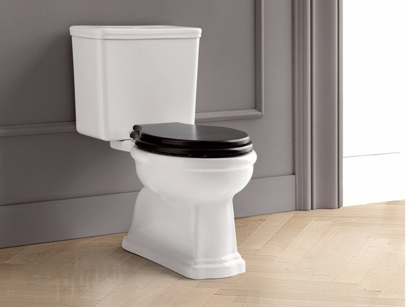 Close coupled ceramic toilet DOROTHY | Close coupled toilet by BATH&BATH