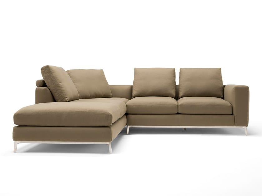 Corner 4 seater leather sofa