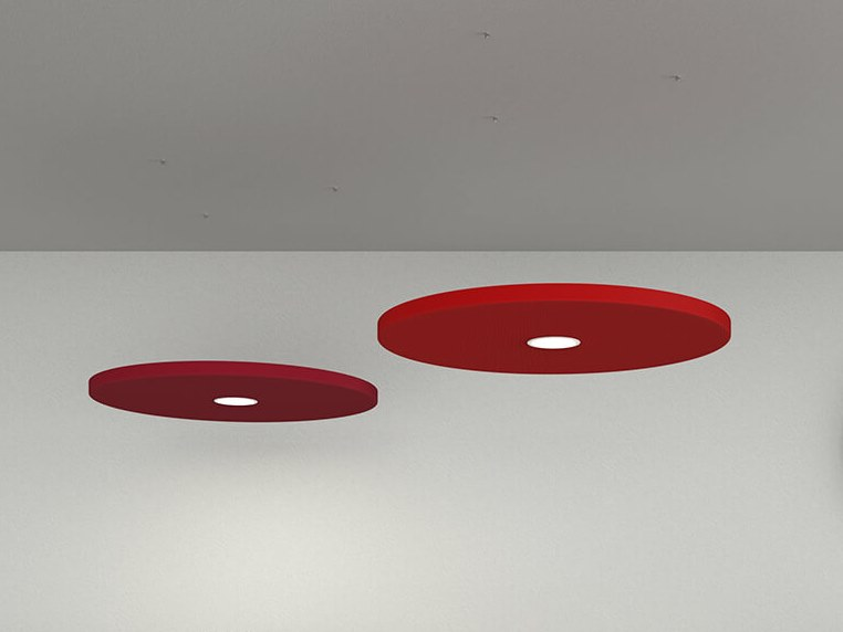 Hanging acoustic panel with Integrated Lighting DOT   Hanging acoustic panel with Integrated Lighting by Caruso Acoustic