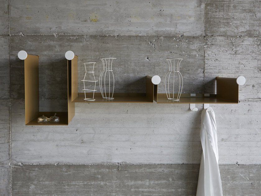 Powder coated steel wall shelf DOTLINE by iCarraro