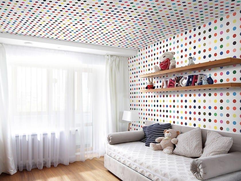 Dotted vinyl wallpaper DOTS COLOR by Adriani e Rossi edizioni