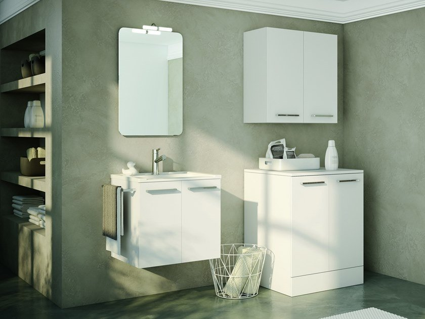 Laundry room cabinet with sink for washing machine DOUBLE 07 by BMT