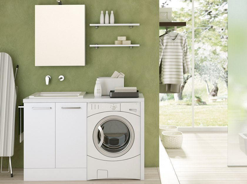 Laundry room cabinet for washing machine DOUBLE 10 by BMT
