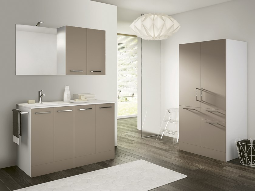 Laundry room cabinet with sink DOUBLE 12 by BMT
