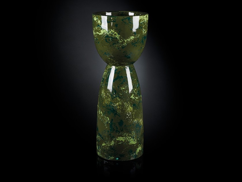 LDPE vase DOUBLE FACE CARRARA by VGnewtrend