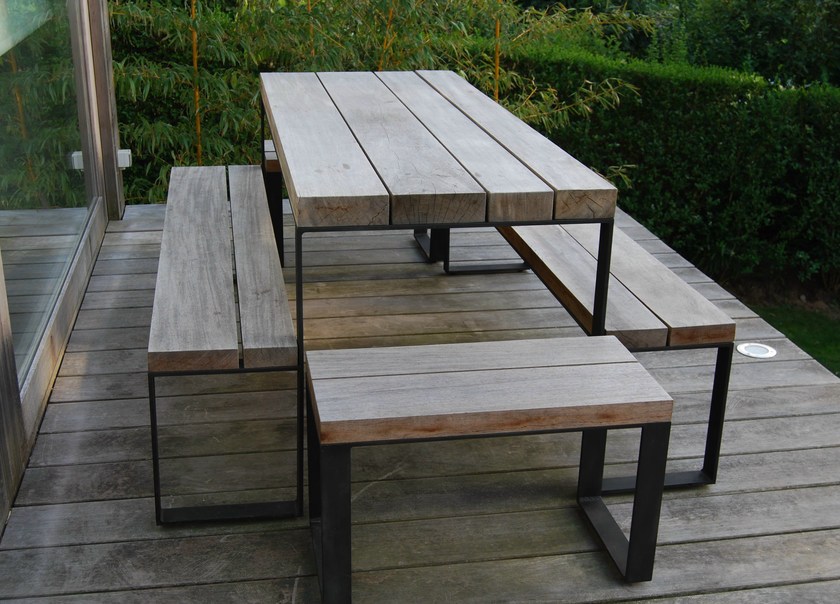 Rectangular oak garden table DOUBLE G | Rectangular table by CABUY D.