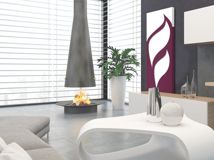 Vertical wall-mounted aluminium panel radiator DOUBLE PLATE - DP 00501 by Termoarredo Design