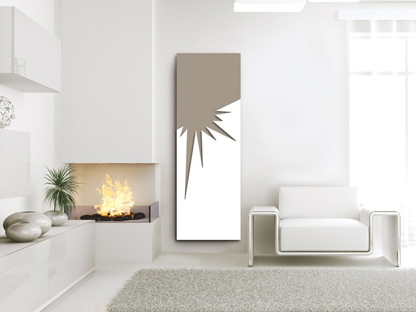 Vertical wall-mounted aluminium panel radiator DOUBLE PLATE - DP 00504A by Termoarredo Design