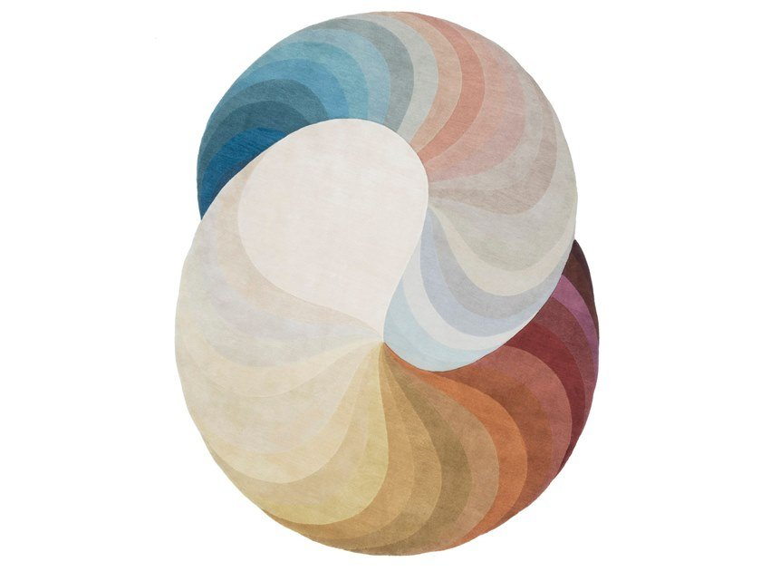 Handmade rug DOUBLE SLINKIE by cc-tapis