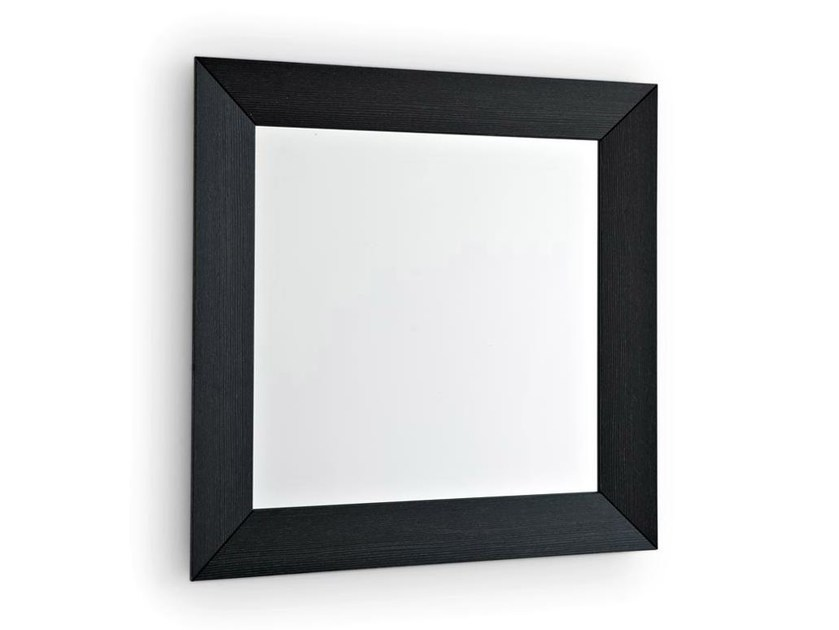 Square wall-mounted framed mirror DOUBLE | Square mirror by Calligaris