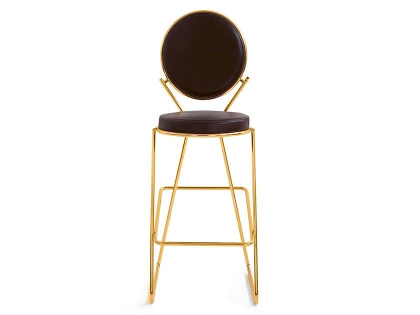 High upholstered stool DOUBLE ZERO | Stool by Moroso