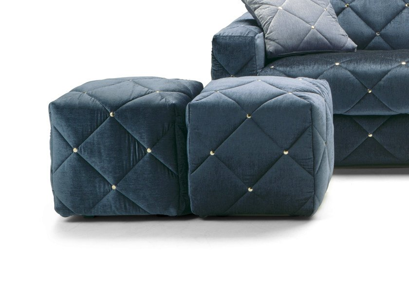 Upholstered fabric pouf DOUGLAS | Pouf by Milano Bedding