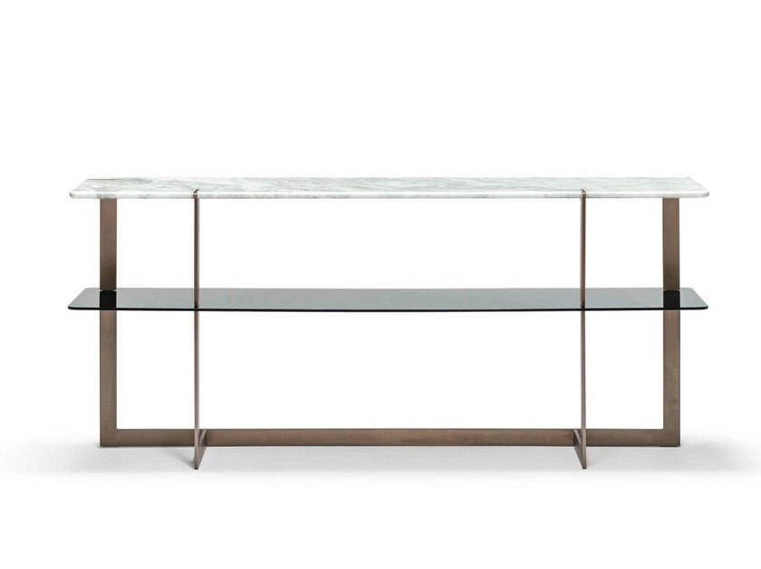 Rectangular marble console table DOUGLAS   Console table by Arketipo