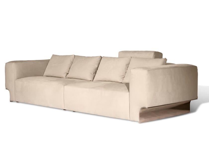 4 seater nabuk sofa DOUGLAS | Leather sofa by Visionnaire