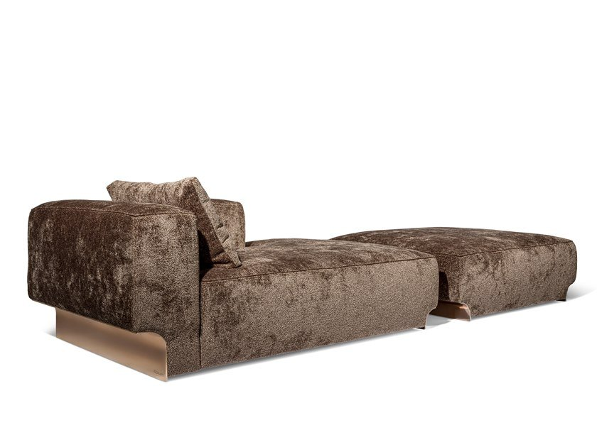 Upholstered fabric day bed DOUGLAS | Day bed by Visionnaire
