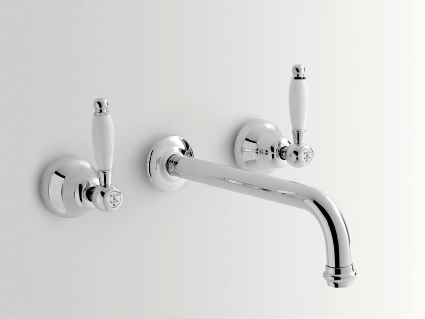 3 hole wall-mounted washbasin tap DOVER | 3 hole washbasin tap by BATH&BATH