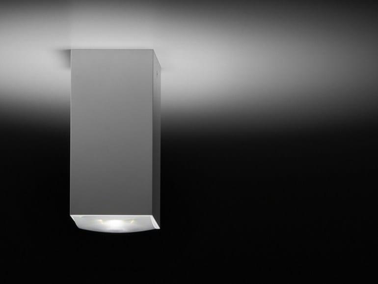 LED direct light aluminium ceiling lamp DOWN 80 Q by PURALUCE