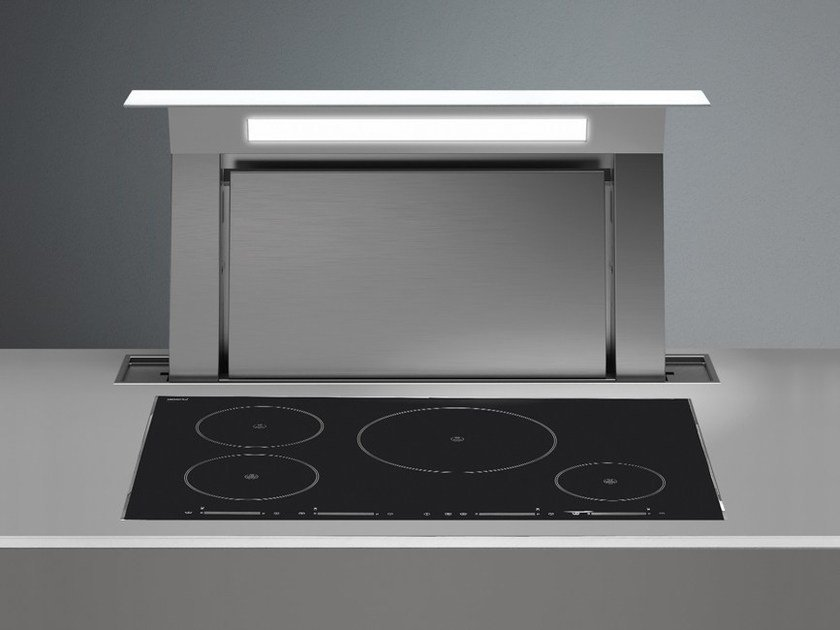 Slide-out stainless steel downdraft DOWN DRAFT by Falmec