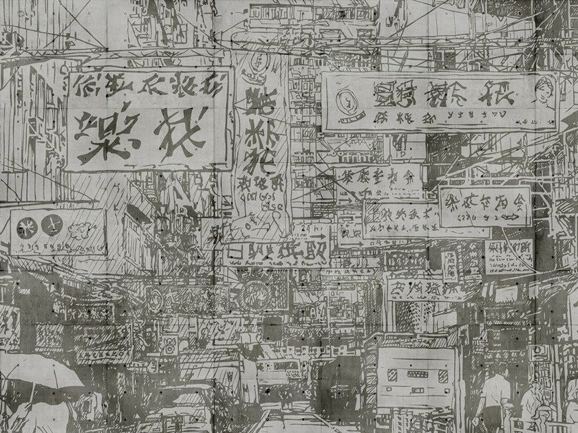 Digital printing wallpaper DOWNTOWN by Architects Paper