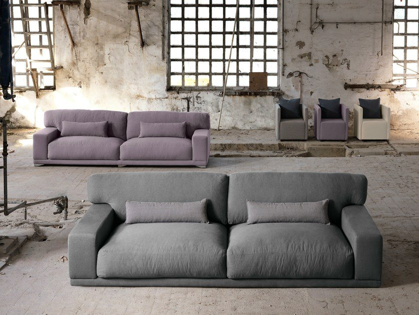 Sectional 3 seater fabric sofa DOYLE | 3 seater sofa by Domingo Salotti