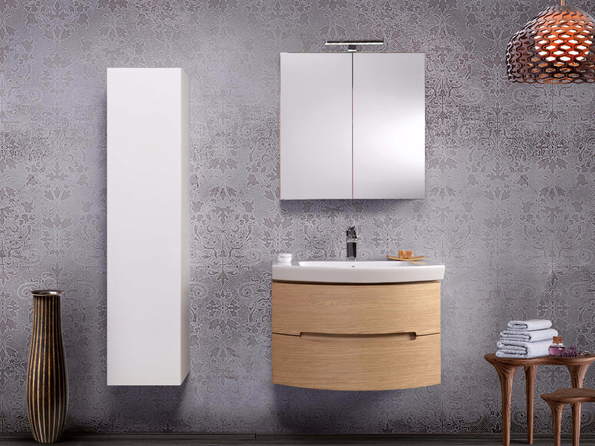 Contemporary style single vanity unit DR02 by Mobiltesino