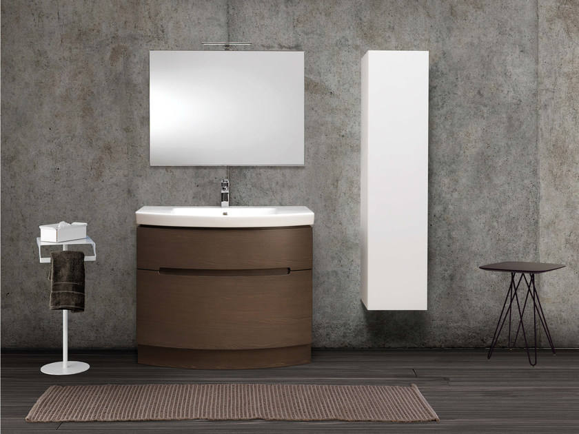 Contemporary style single vanity unit DR06 by Mobiltesino